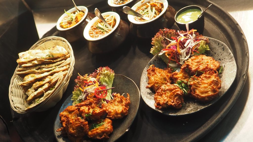 indian food in an indian restaurant in lilydale